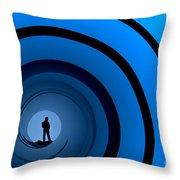 Bond Man Throw Pillow