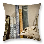 Bone Collector Library Throw Pillow by Heather Applegate