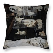 Bone Heads Throw Pillow