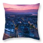 Bonn Panorama - Stadthaus Throw Pillow