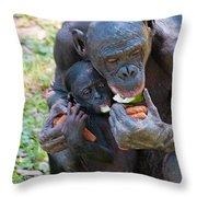 Bonobo 3 Throw Pillow