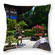 Bonsai Garden Throw Pillow