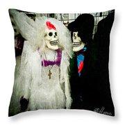 Boo-tiful Couple Throw Pillow