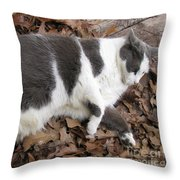 Boojer In Leaves Throw Pillow