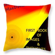 Book Jacket Cover For First Book Throw Pillow