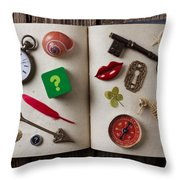 Book Of Secrets Throw Pillow by Garry Gay