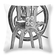 Book-rolling Machine Throw Pillow