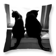 Bookends Throw Pillow