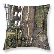 Bookwheel, 1588 Throw Pillow