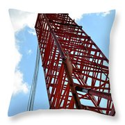 Boom Tower Throw Pillow