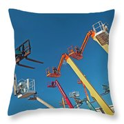 Boomlifts Abstract Throw Pillow