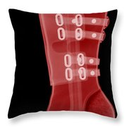 Boot, X-ray Throw Pillow