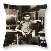 Bootblack, 1910 Throw Pillow