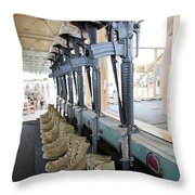 Boots, Rifles, Dog Tags, And Protective Throw Pillow