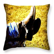 Boots1 Throw Pillow