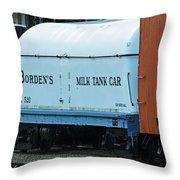 Bordens Milk Tank Car Throw Pillow