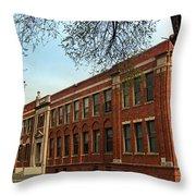 Border Star Elementary School Kansas City Missouri Throw Pillow