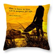 Born To Live Throw Pillow