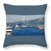 Bosphorus Traffic Throw Pillow