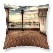 Boston - David Von Schlegell - Untiltled Throw Pillow