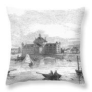 Boston: Almshouse, 1852 Throw Pillow