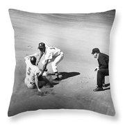 Boston: Baseball Game, 1961 Throw Pillow