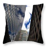 Boston Blue Sky And Stone Throw Pillow
