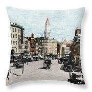Boston: Bowdoin Square Throw Pillow
