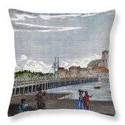 Boston: Charles River, 1789 Throw Pillow