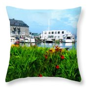 Boston Scene- Boston City Art Throw Pillow