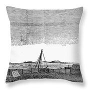 Boston Harbor, 1776 Throw Pillow