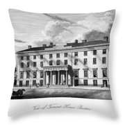 Boston: Hotel, C1835 Throw Pillow