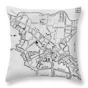 Boston: Map, 1770 Throw Pillow