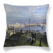 Boston, Mass., 1838 Throw Pillow