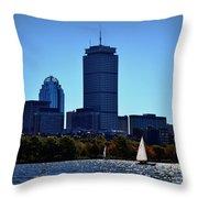 Boston Skyline 2 Throw Pillow