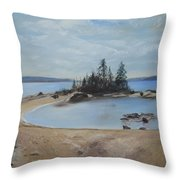 Boswell's Point-lake Superior Throw Pillow