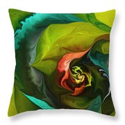 Botanical Fantasy 011512 Throw Pillow