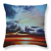 Botany Bay Sunrise Throw Pillow