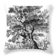 Botany: Oak Tree Throw Pillow