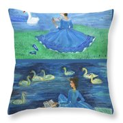 Both Swan Lake Readers Throw Pillow