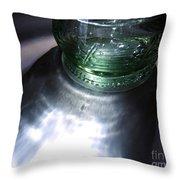 Bottle And Light Photograph Throw Pillow