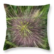 Bottle Brush By Nature Throw Pillow