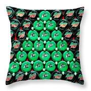 Bottle Caps Christmas Tree Throw Pillow