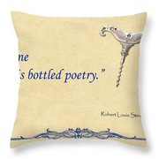 Bottled Poetry Throw Pillow