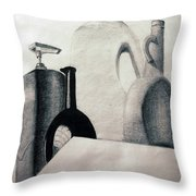Bottles Throw Pillow by Michael Ringwalt