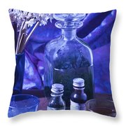 Bottles Of Perfume Essence  Throw Pillow