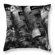 Bottles Of Water Throw Pillow