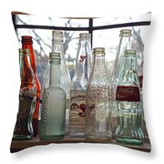 Bottles On The Shelf Throw Pillow