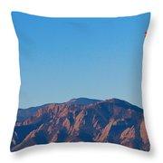 Boulder Colorado Flatirons Hot Air Balloon View Throw Pillow