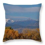 Boulder County Colorado Continental Divide Autumn View Throw Pillow